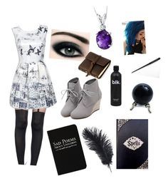 """""""Hogwarts"""" by coffeeismysoul ❤ liked on Polyvore featuring Rich and Damned, Pretty Polly, WithChic, Oravo and Rustico"""
