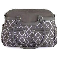 JJ Cole's Satchel Diaper bag is a stylish, spacious, and functional diaper bag with multiple organizational compartments. Ships free from PeppyParents.com.
