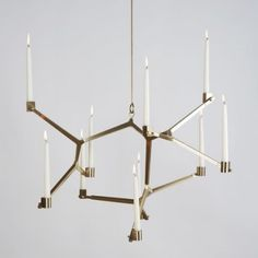 Modern Lighting: Agnes Candelabra by Lindsey Adelman Aske her if she can make this with faux candles.