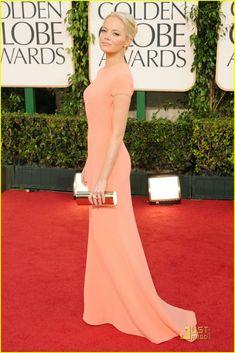 Emma Stone - Golden Globes 2011 Red Carpet