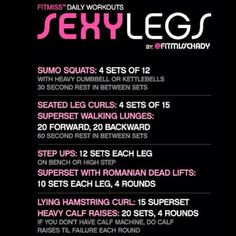 .@iamfitmiss | Repost on today's #FitMiss #Leg #Workout- cropped it bigger for the few that ...