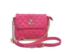 """IN STYLE """"225"""" Quilted Crossbody Designer Inspired Handbag for Women (Pink). Soft leatherette textured exterior. Multiple interior compartment keeps your belongings organized. Made of manmade leather. Dimension: Exterior - 9"""" L x 8.5"""" H x 1.5"""" W; signature Interior - Great with cellphone pocket and essentials. 16"""" handle drop."""