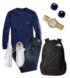 """""""White and Navy."""" by maciemccoy on Polyvore featuring The North Face, Vineyard Vines, American Eagle Outfitters, Kate Spade and Bertha"""