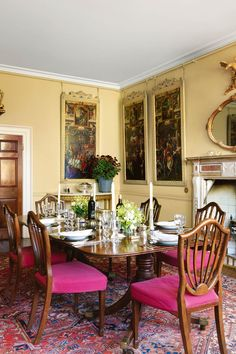 The Red Dining Room At My Former Residence Patshull Hall  En Extraordinary Dining Room Spanish Translation Decorating Inspiration