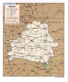 weissrussland karte im Weißrussland Reiseführer http://www.abenteurer.net/3386-weissrussland-reisefuehrer/