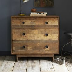 Made from reclaimed pine shipping pallets certified by the Forest Stewardship Council® (FSC), the Emmerson 3-Drawer Dresser shows the knots and natural imperfections that make each piece subtly one of a kind.