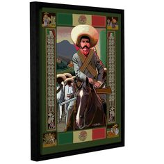 Zapata by Rick Kersten Gallery-Wrapped Floater-Framed Canvas