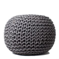 Just bought this hand knitted ottoman.  It's going to be so cozy comfy for my tired feet!
