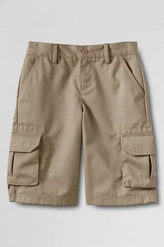 School Uniform Boys' Stain & Wrinkle Resistant Cargo Shorts from Lands' End