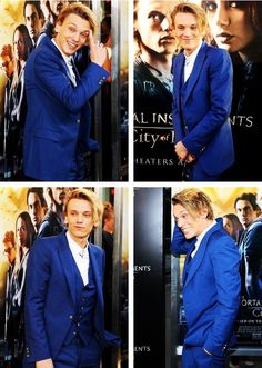 Jamie Campbell Bower at The Mortal Instruments: City of Bones premiere in LA.