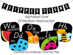 Alphabet cards to create an alphabet line that will brighten up your classroom decor, along with matching word wall headers! This resource features: Alphabet Line, Cursive Alphabet, Alphabet Cards, Alphabet And Numbers, Classroom Themes, Classroom Organization, Classroom Design, Disney Classroom, Future Classroom