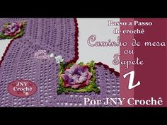 Caminho de mesa ou Tapete Z por JNY Crochê - YouTube