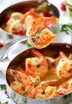 Drunken Shrimp Scampi recipe Shellfish Recipes, Shrimp Recipes, Meat Recipes, Cooking Recipes, Drunken Shrimp Recipe, Salad Recipes, Cooking Corn, Lentil Recipes, Gourmet