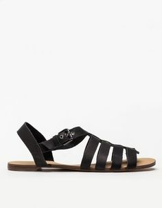 Gladiator Sandal In Black Marais Usa