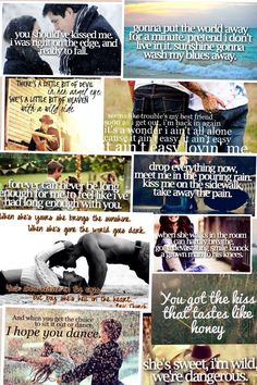 Country songs collage