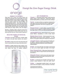 "Here is all the information on our great energy drink called ""Energe"" You have to try it! www.ahealthieryoutoday.com/drink"