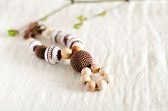 Organic Teething necklace Nursing pendant spring All by kangarusha