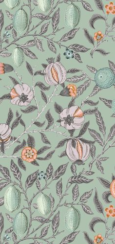 Latest launch of Mod Vintage, design! Hand painted in water colours and Gouache with William Morris inspired antique elements, develope into large seamlessly Decoupage Paper, William Morris, Surface Design, Print Patterns, Product Launch, Textiles, Leaves, Hand Painted, Colours