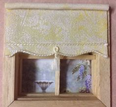 Yellow Marl Small Blind, Dolls House Miniatures, 12th Scale, 24th Scale Windows House Blinds, Miniture Things, Dollhouse Miniatures, Scale, Windows, Dolls, Yellow, Ebay, Home Decor
