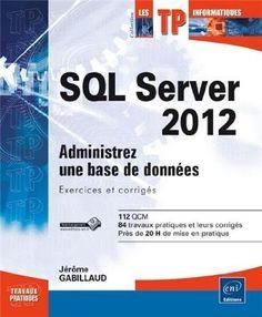 Permet au lecteur de s'entraîner sur les différentes opérations auxquelles peut être amené un administrateur SQL Server 2012. Les exercices proposés couvrent l'installation, la gestion de l'espace disque, la sécurité, la sauvegarde, la restauration, la réplication, le partitionnement de table, Service Broker ou bien encore le transfert de données avec SSIS. Cote : 1-2421 GAB