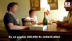 Na Dinamarca um O Pai Ganhou a Lotaria, Veja a Reação dos Filhos , quando viram o que esse cara tinha ganho , mais de 1 millhão na moeda Dinamarquesa, certa de 2 Milhos e 500 Mil Dollars .