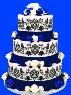#atlanta #wedding #planners  Damask Black White and Navy