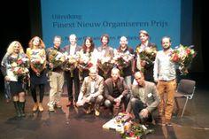 Schoongewoon wint de Finext Nieuw Organiseren Prijs   Amy van Son wint de Nieuw Organiseren Publieksprijs.
