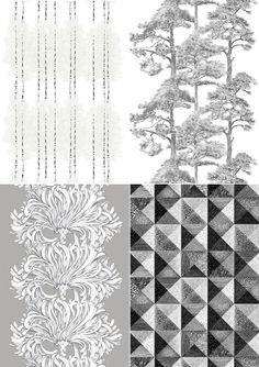 Vallila State of Mind Collection: Sintra, Lempi, Koivikko, Kallvik Pretty Cool, Textile Design, Color Pop, Imagination, Scandinavian, Pattern Design, Innovation, Fabrics, Textiles