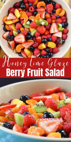 Summer Berry Fruit Salad With Honey Lime Glaze | Serena Bakes Simply From Scratch
