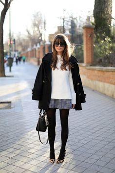 Balada e inverno: aposte nas meias e nos casacos estilosos para se sentir linda sem passar frio.