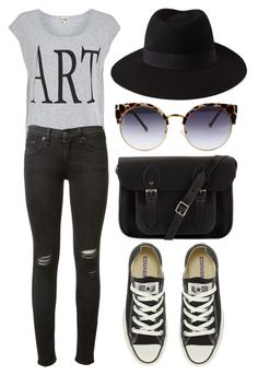 """art"" by kovacshelgi ❤ liked on Polyvore featuring Twist & Tango, rag & bone, The Cambridge Satchel Company, Forever 21 and Converse"