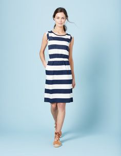 Indigo Marl/Ivory Blackberry Dress Boden