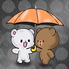 Cute Cartoon Characters, Cute Cartoon Pictures, Emoji Pictures, Love Cartoon Couple, Cute Couple Art, Cute Love Pictures, Cute Love Gif, Cute Baby Wallpaper, Bear Wallpaper