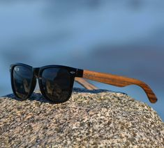 Wood Sunglasses. Personalized Ebony Wood Sunglasses.