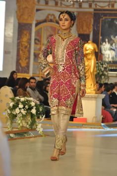 Arsalan Iqbal is the most admired and top designer of Pakistan, who has recently showcased his bridal wear dress collection on 1st day of Pantene Bridal couture week, Lahore 2013.