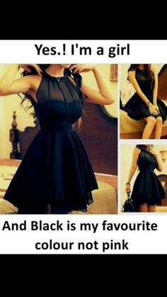 i love black.I am girl & I really like black Girly Attitude Quotes, Girl Attitude, Girly Quotes, Black Colour Quotes, Color Quotes, Crazy Girl Quotes, Crazy Girls, Black Love, Black Is Beautiful