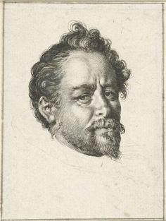 Jan Harmensz. Muller   Portret van Bartholomeus Spranger, Jan Harmensz. Muller, Hans von Aachen, 1597   Portret van schilder en prentmaker Bartholomeus Spranger.