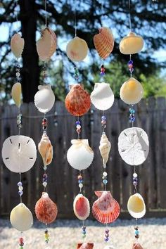This beautiful eye catching wind chime is perfect for any patio, garden or home. The chimes hang from a really cool piece of natural sea-worn driftwood collected from the beach of Folsom Lake in Folsom, CA. It features pretty multi-colored ceramic beads. Several different types of by sonia