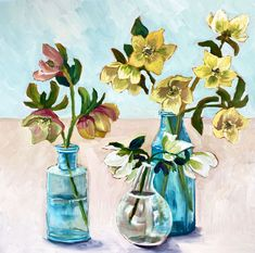 Assorted Helebores – Ali Wood Artist