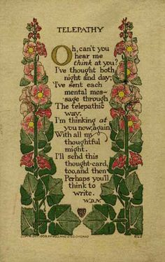 Arts and Crafts, book design, illustration Wiccan, Magick, Witchcraft, Pagan, Art Nouveau, Art And Craft Design, Hollyhock, Arts And Crafts Movement, Old Postcards