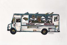 Truck II Linocut Eric Rewitzer 3 Fish, Studios, Trucks, Artwork, Work Of Art, Auguste Rodin Artwork, Truck, Artworks, Illustrators