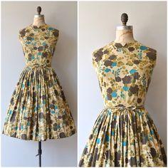 "651 Likes, 17 Comments - DEAR GOLDEN (@deargolden) on Instagram: ""NEW! 1950s Forest Floor dress • large"""