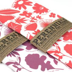 peppersprouts : 50 State Plants Tea Towel - Bold Peach : modern home decor & accessories