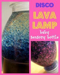 A great DIY baby sensory bottle - gorgeous sensory play idea.