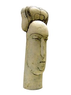 "Stella Zadros, ceramic sculpture- ""Head of townswoman"" from The Magical Krakow series, 2006, 70 cm (h), www.stellaart.com"