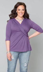 Plus Size Top – Katniss Knit, Lilac