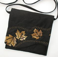 Maple Leaf Purse - Fiber Art Original