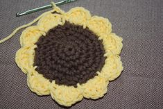 Charm Hour: Crocheted Sunflower Coasters