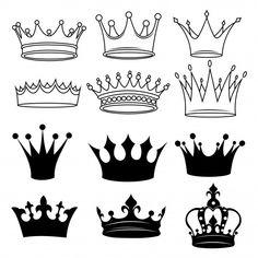 Shiva Tattoo Design, Crown Tattoo Design, King Crown Tattoo, Crown Tattoos, Tatoos, Arm Tattoos Drawing, Crown Outline, Coroa Tattoo, Crown Stencil