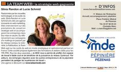 La Team est dans le journal de l'agglo ! #Pézenas #Herault #agence #webmarketing #socialmedia